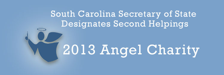 SC Secretary of State Designates Second Helpings as a 2013 Angel Charity