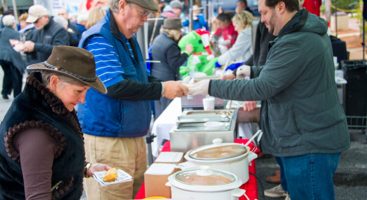 Soups with creams and sauces at the Souper Bowl of Caring February 1