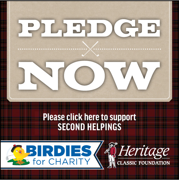 Your Gift to Second Helpings Goes 10% Further with Heritage Champions Fore Charity!